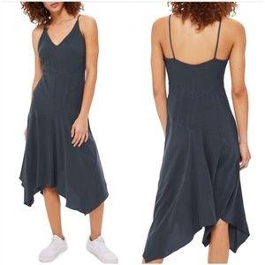 NWT TopShop 'Molly' Asymmetrical Hem Slip Dress